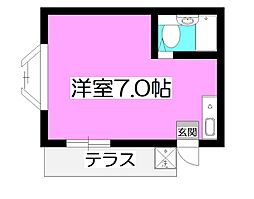埼玉県狭山市富士見1丁目の賃貸アパートの間取り