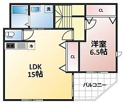 KIKI三番館[3階号室]の間取り