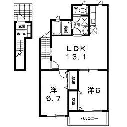 ファビラスハウス[2階]の間取り