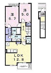 ファームティップII[2階]の間取り