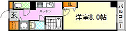 JR芸備線 矢賀駅 徒歩13分の賃貸マンション 7階1Kの間取り