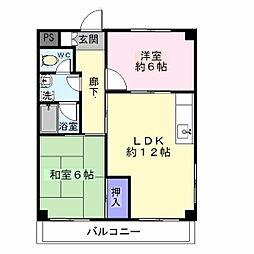 ヒルズ熊野[1階]の間取り