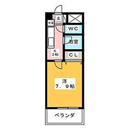 マンションローズVII[6階]の間取り