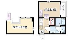 愛知県名古屋市瑞穂区牛巻町の賃貸アパートの間取り