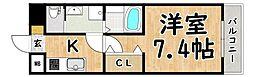 Osaka Metro谷町線 平野駅 徒歩3分の賃貸マンション 4階1Kの間取り