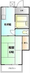 ハイツ松永[203号室]の間取り