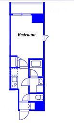 JR京浜東北・根岸線 西川口駅 徒歩3分の賃貸マンション 2階1Kの間取り