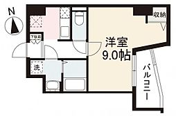 JR高徳線 栗林公園北口駅 徒歩7分の賃貸マンション 1階1Kの間取り
