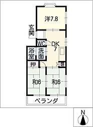 レジデンス新清洲[2階]の間取り