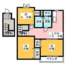 カルテットA・B・C・D[2階]の間取り