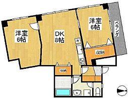 エスタ泉(エスタイズミ)[3階]の間取り