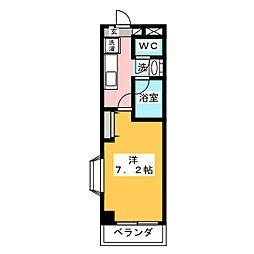 サンルージュ若宮[3階]の間取り