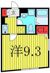 THE RESIDENCE toshima-chihaya 2階1Kの間取り