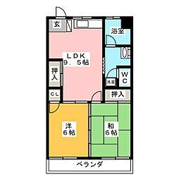第2ユタカマンション[2階]の間取り