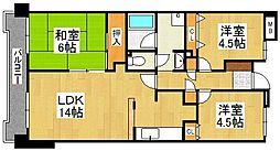 G-ONE姪浜駅南WEST[7階]の間取り