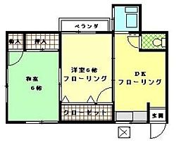 神奈川県横浜市保土ケ谷区瀬戸ケ谷町の賃貸アパートの間取り