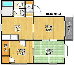 千葉県船橋市夏見3丁目の賃貸アパートの間取り