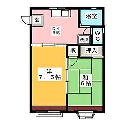メゾンジルエット[2階]の間取り