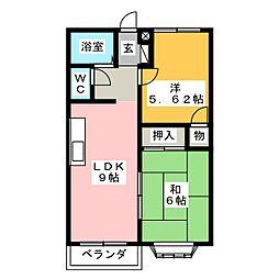アミティ ソフィアA棟[1階]の間取り