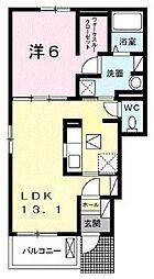 高松琴平電気鉄道長尾線 学園通り駅 徒歩8分の賃貸アパート 1階1LDKの間取り