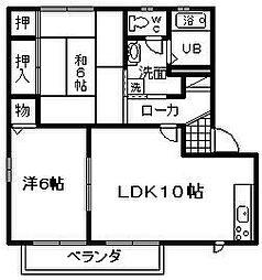 サンヒル岸和田2 H棟[102号室]の間取り