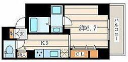 JR相模線 香川駅 徒歩1分の賃貸マンション 4階1Kの間取り