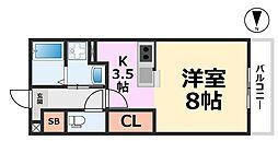 パークサイド・マ・メゾン[206号室号室]の間取り
