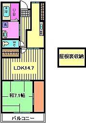 コーポレート浦和別所[7階]の間取り