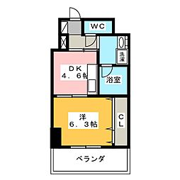 静岡茶町エンブルコート[4階]の間取り