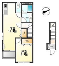ルーナ フロール[2階]の間取り