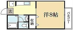 メゾン箱の井[1階]の間取り