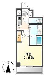 パルティール新栄[7階]の間取り