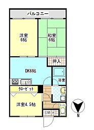 ビックベアー7[3階]の間取り