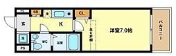 SERENITE本町 ROJI02[3階]の間取り