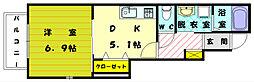福岡県糟屋郡新宮町下府7丁目の賃貸アパートの間取り