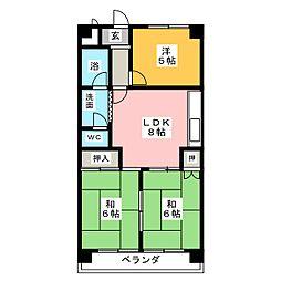 ジュネス21[4階]の間取り