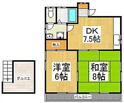 柴崎コーポ[2階]の間取り