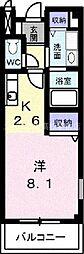香川県高松市松並町の賃貸アパートの間取り