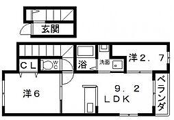 サンブライト[3階]の間取り