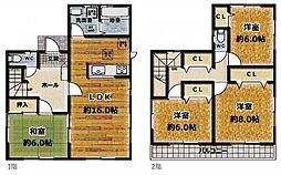 収納豊富な4LDK。全居室6帖以上あり、広々とした空間が広がります