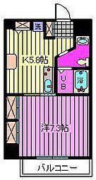 KS-DIO[7階]の間取り