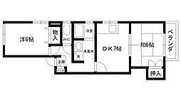 フレグランス門戸[2階]の間取り