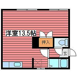 コート西岡[2階]の間取り
