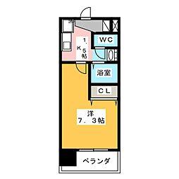 アレーズカシェート[4階]の間取り