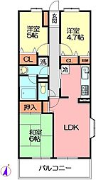 湘南山の手マンション[3階]の間取り
