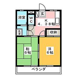 御幸ヶ原タナベハイツ[2階]の間取り