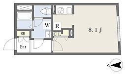MTM東別院 4階1Kの間取り