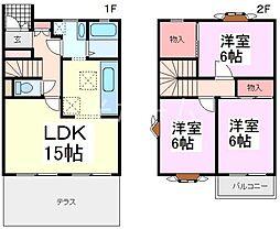 [テラスハウス] 東京都東久留米市小山3丁目 の賃貸【/】の間取り