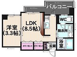 エンクレスト平尾II[506号室]の間取り
