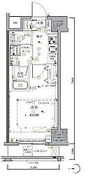 JR総武本線 馬喰町駅 徒歩5分の賃貸マンション 10階1Kの間取り